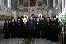 Les membres du Saint-Synode de l'Eglise orthodoxe en Biélorussie ont rencontré le président A. Loukachenko
