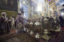 Le patriarche Cyrille a célébré la bénédiction du saint chrême