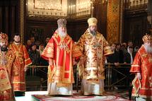 Le patriarche Cyrille et le métropolite Jonas ont célébré une liturgie à la cathédrale de Moscou