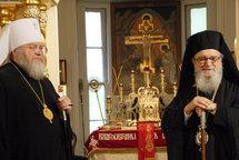 Le métropolite Hilarion a reçu à New York l'archevêque grec aux Etats-Unis