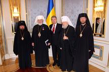 Les métropolites de Kiev et de Finlande ont rendu visite au président ukrainien