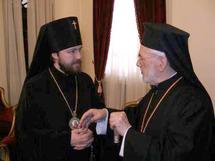 L'archevêque Hilarion a rendu visite au patriarche d'Antioche