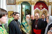 Le cardinal Philippe Barbarin a reçu le doctorat honoris causa de l'Institut de théologie de Minsk