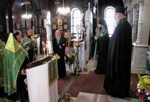 Des évêques des patriarcats de Moscou et de Géorgie ont prié à l'église de l'Exaltation-de-la-Sainte-Croix à Genève