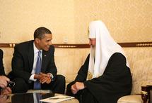 Rencontre entre le patriarche Cyrille et Barack Obama