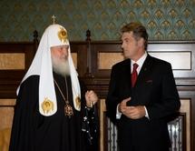 Rencontre entre le patriarche Cyrille et le président ukrainien Viktor Iouchtchenko
