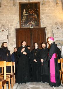 Visite de l'archevêque Hilarion de Volokolamsk à Auvers-sur-Oise