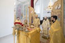 Mgr Nestor et Mgr Job, archevêque de Telmessos ont célébré la Divine Liturgie en la cathédrale de la Sainte-Trinité