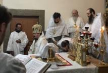 Monseigneur Nestor, évêque de Chersonèse, s'est rendu dans la paroisse de Sainte-Xenia-de-Pétersbourg à Faro