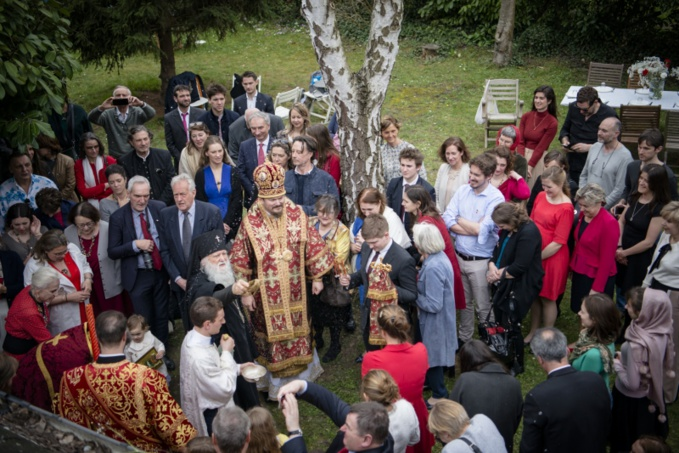Les visites pascales du Mgr Nestor, effectuées le jour de la Résurrection du Christ