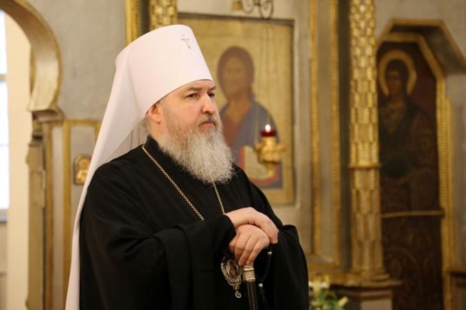Mgr Cyrille, métropolite de Stavropol a célébré la Divine Liturgie en la cathédrale de la Sainte Trinité