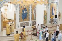 Mgr Nestor, évêque de Chersonèse, a célébré la Divine Liturgie en la cathédrale de la Sainte-Trinité
