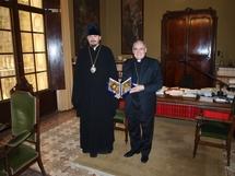 L'archevêque de Barcelone a reçu l'évêque Nestor de Chersonèse