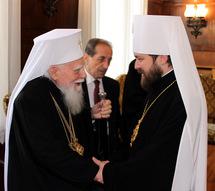Le métropolite Hilarion de Volokolamsk rend visite au patriarche de Bulgarie