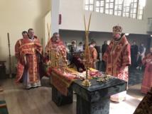 Mardi Lumineux: l'Éxarque du Patriarche a rendu visite épiscopale à la paroisse des Saints Martyrs impériaux à Monaco.
