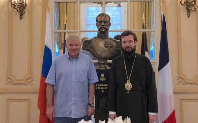 La rencontre entre le métropolite Antoine et l'ambassadeur de Russie en France Alexeï Meshkov