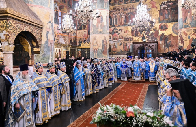La Liturgie patriarcale en la cathédrale de la Dormition au Kremlin