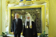 Mario Monti a rendu visite au patriarche Cyrille de Moscou