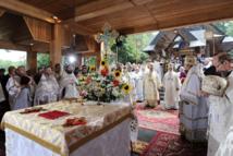 Le patriarche Cyrille célèbre la liturgie de la Transfiguration au Mont Grabarka en Pologne