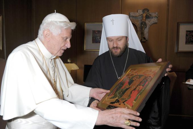 Rencontre entre le pape Benoît XVI et le métropolite Hilarion de Volokolamsk
