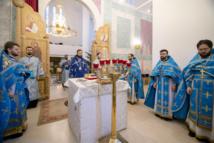 La Synaxe de la Mère de Dieu célébrée par Mgr Antoine et le clergé de la cathédrale de la Sainte Trinité à Paris