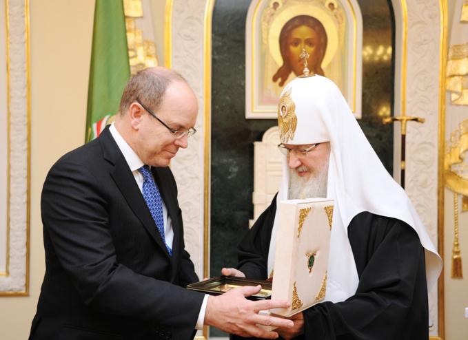 Albert de Monaco a rendu visite au patriarche de Moscou