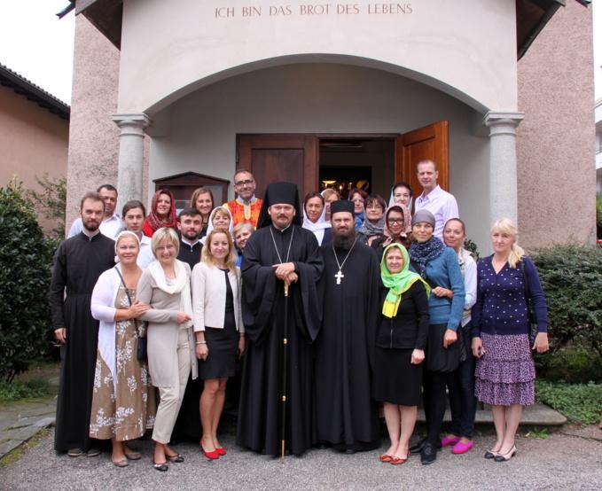 Visite de l'évêque Nestor dans la nouvelle paroisse orthodoxe à Melide (Suisse)