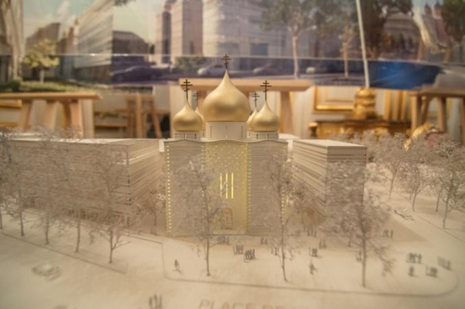 Conférence de M. Jean-Michel Wilmotte sur l'architecture du Centre culturel et spirituel orthodoxe russe à Paris