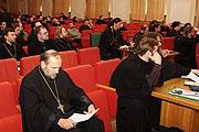 Colloque sur l'archéologie biblique à l'académie de théologie de Moscou