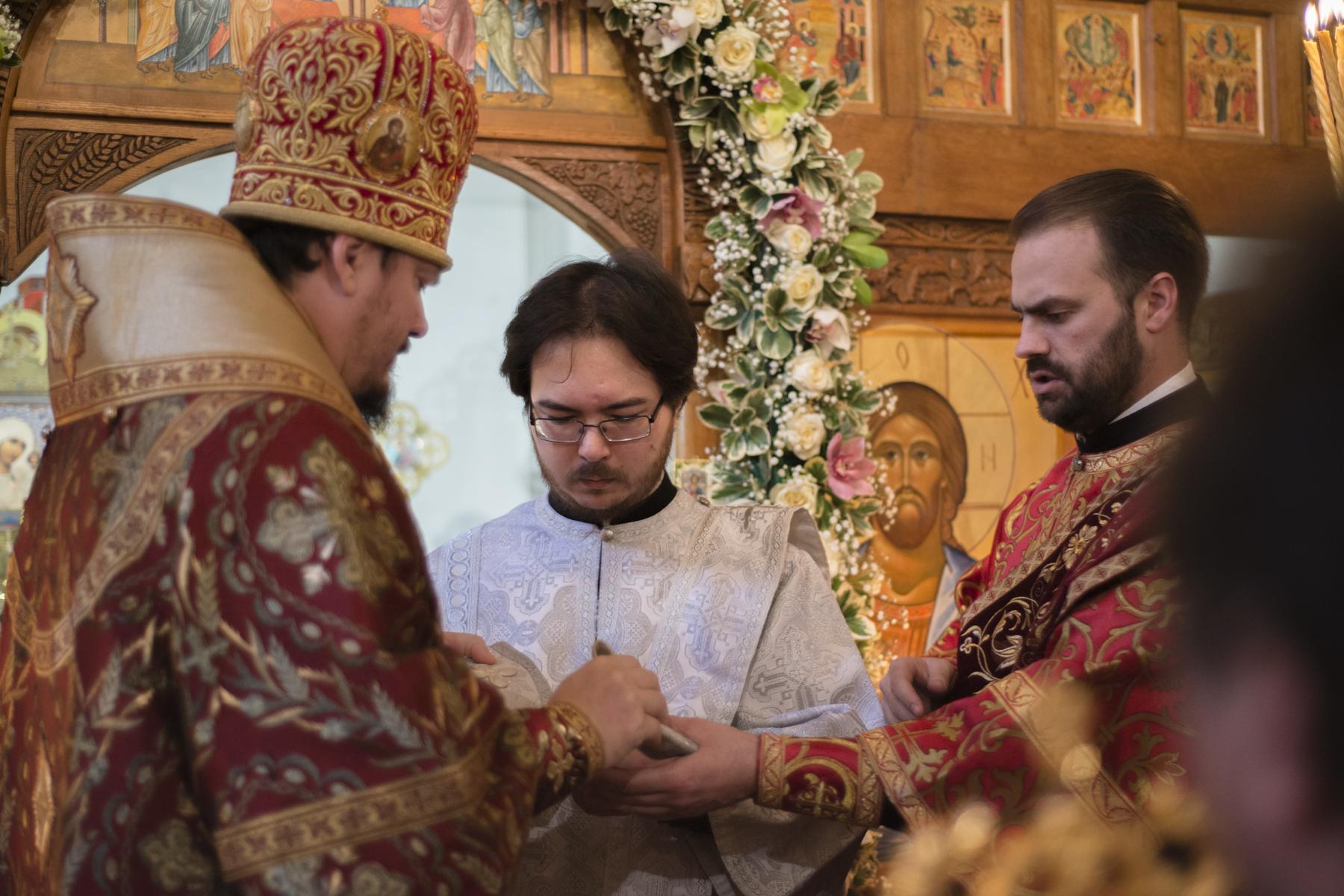 Mgr Nestor, évêque de Chersonèse, a présidé les solennités de la fête onomastique de la paroisse des Saints Nouveaux Martyrs à Vanves