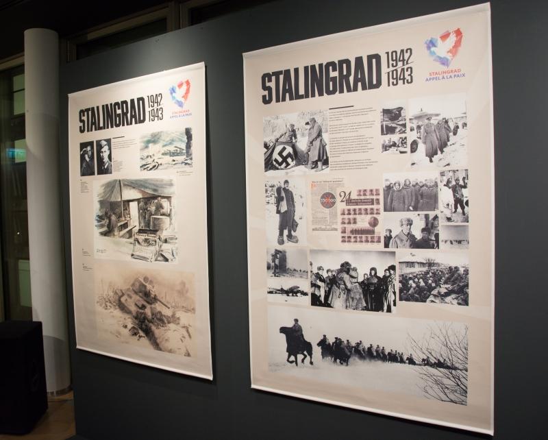 Le vernissage d'une exposition consacrée au 75e anniversaire de la victoire dans la bataille de Stalingrad