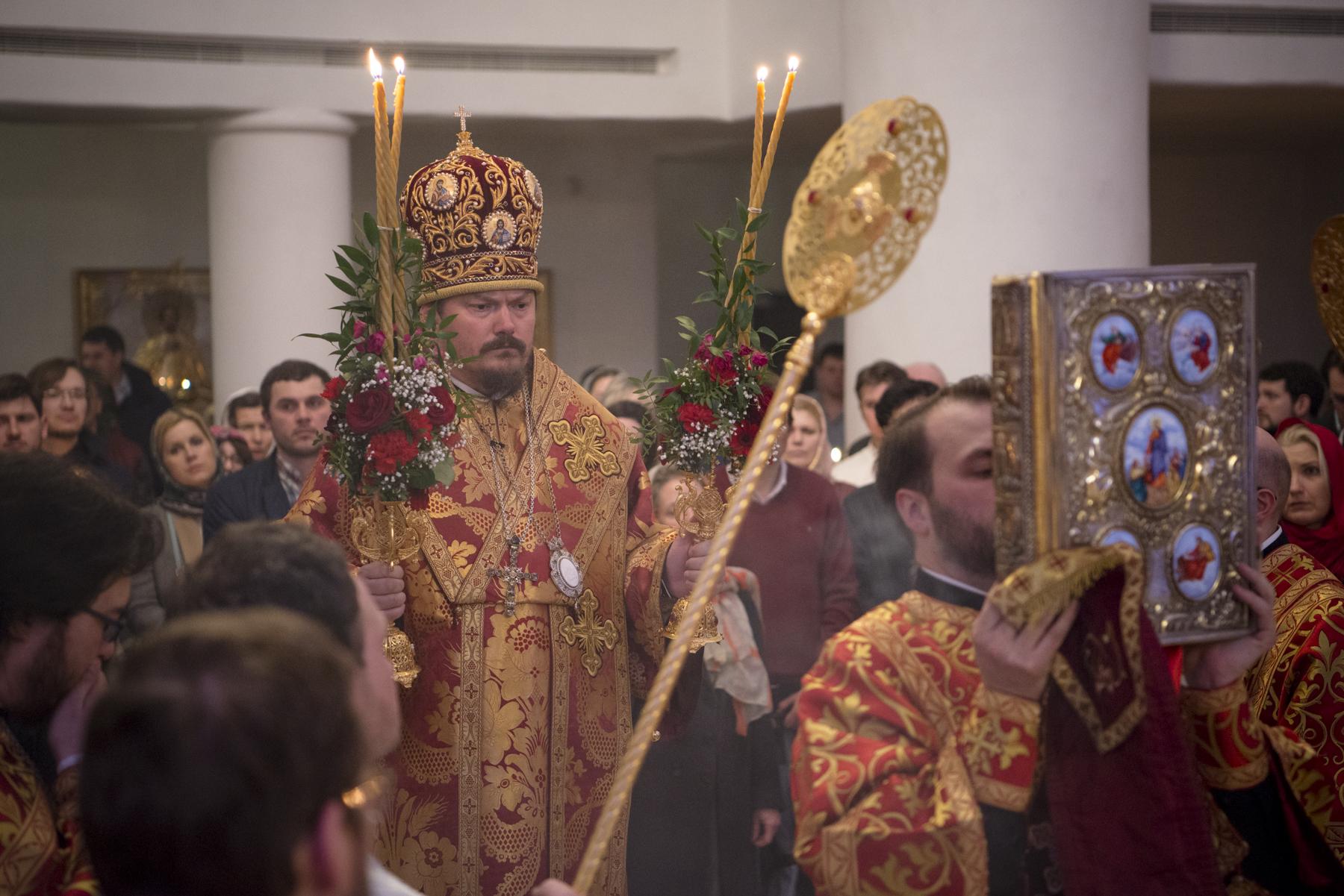 L'évêque Nestor a présidé l'office pascal à la cathédrale de la Sainte Trinité