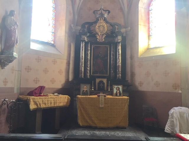 Première liturgie orthodoxe à la chapelle de l'hospice Saint Jacques, appartenant à l'abbaye de Saint Maurice (Suisse)