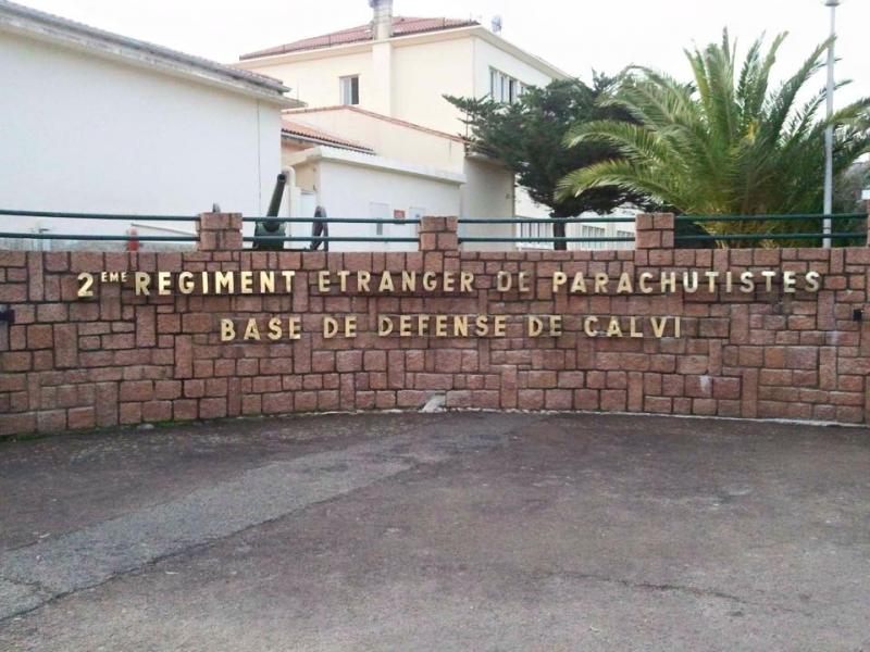 Corse : l'aumônier orthodoxe des forces Armées françaises s'est rendu au Deuxième régiment parachuté de la Légion étrangère à Calvi