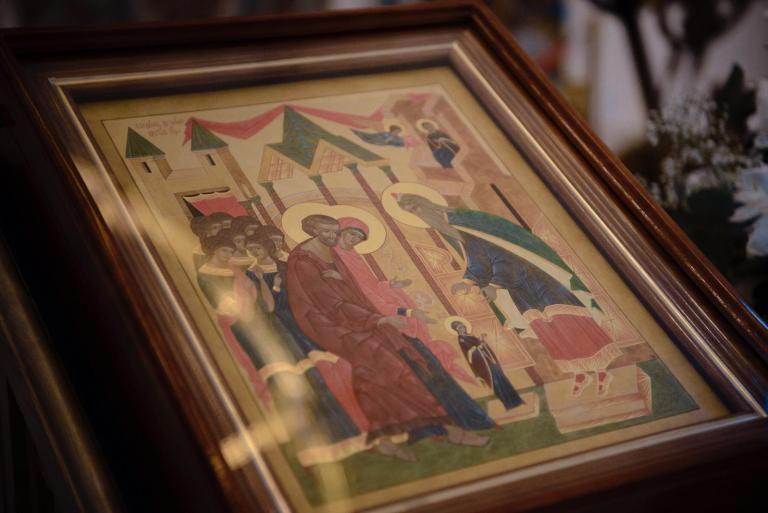 Mgr Nestor, évêque de Chersonèse, a célébré la Divine Liturgie de l'Entrée de la Mère de Dieu au Temple en la cathédrale parisienne de la Sainte-Trinité