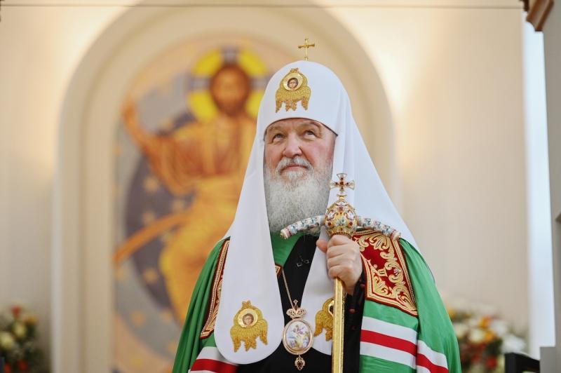 Discours de Sa Sainteté le patriarche Cyrille de Moscou et de toute la Russie après la Divine liturgie à l'église de Tous-les-Saints de Strasbourg