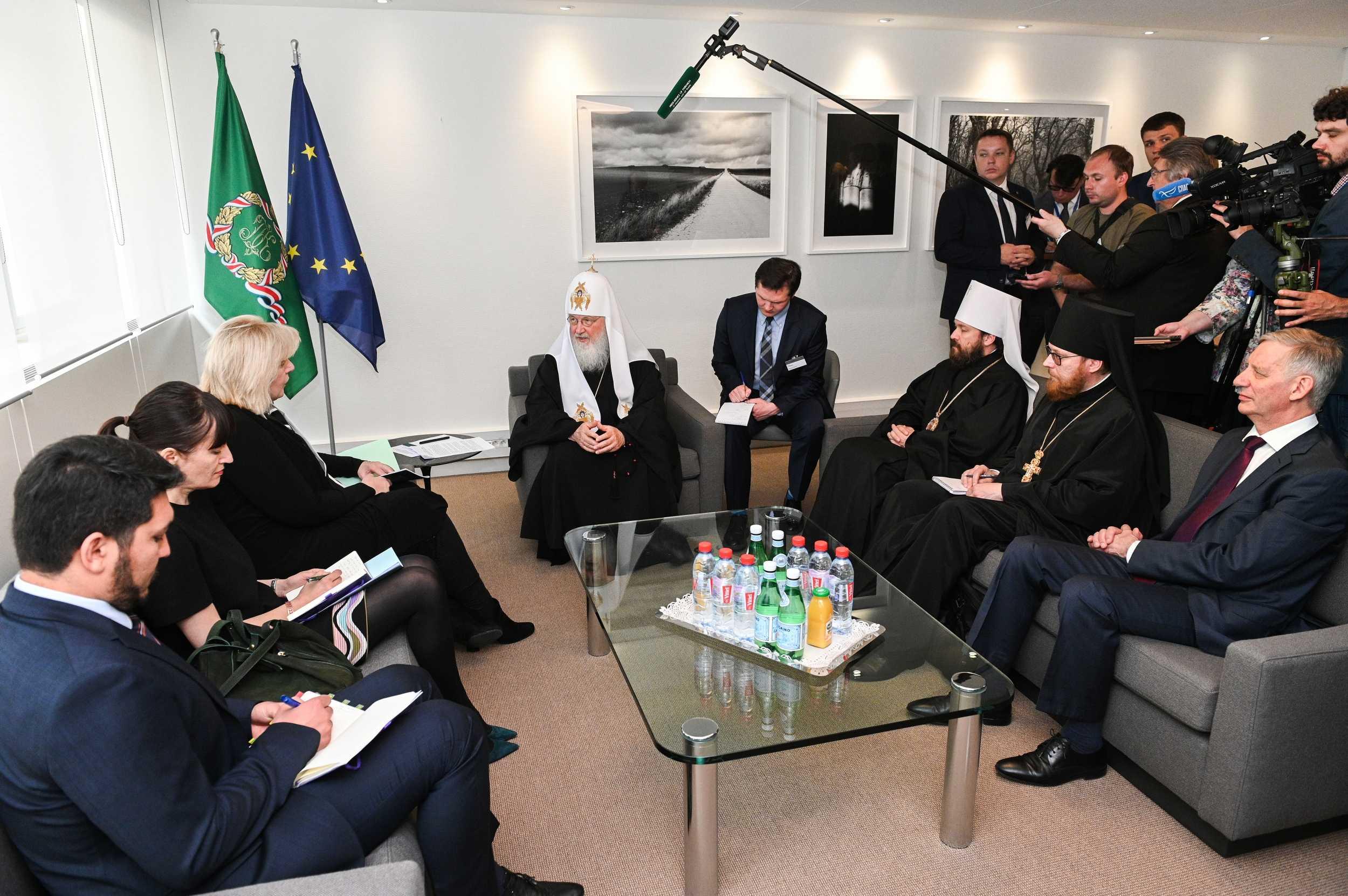 Le patriarche Cyrille a rencontré le haut commissaire du Conseil de l'Europe aux droits de l'homme