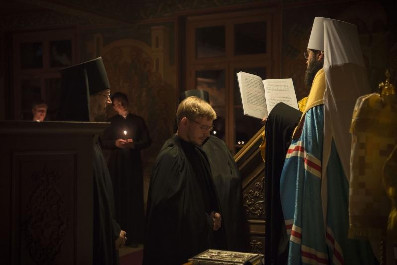 La tonsure monastique du formateur du Séminaire orthodoxe russe