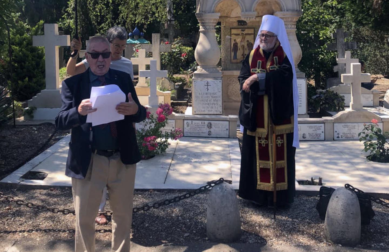 L'inauguration d'une plaque en mémoire de la vénérable mère Marie Skobtsov au cimetière russe de Sainte-Geneviève-des-Bois