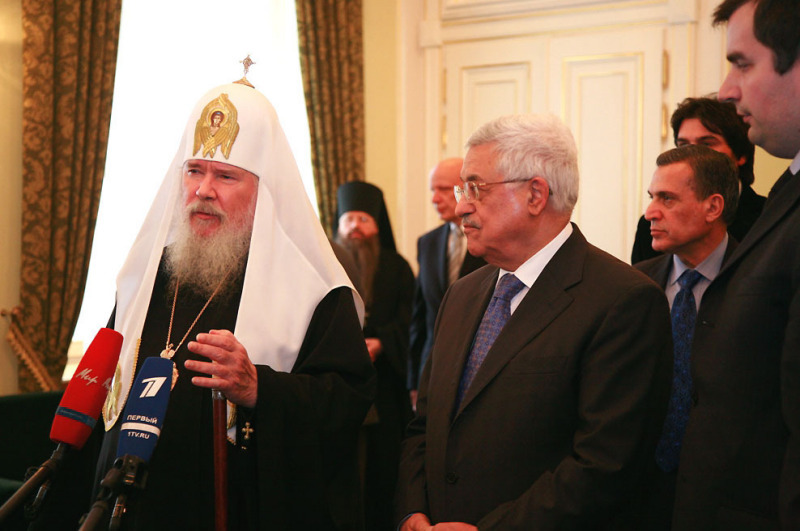 Le patriarche Alexis a reçu Mahmoud Abbas