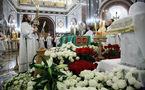 La liturgie funèbre et les obsèques du patriarche Alexis célébrées à la cathédrale Christ-Sauveur de Moscou