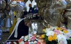 Mgr Cyrille prie auprès des reliques de sainte Matrone pour le prochain concile