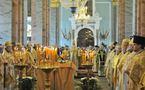 Première liturgie patriarcale à l'église Saints-Pierre-et-Paul de Saint-Pétersbourg