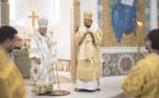 Mgr Alexandre, archevêque de Bakou et Mgr Nestor ont célébré la Divine Liturgie en la cathédrale de la Sainte-Trinité