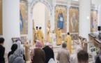 Monseigneur Nestor a célébré la Divine Liturgie en la cathédrale de la Sainte-Trinité