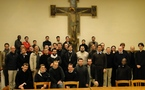 Visite des séminaristes orthodoxes au séminaire d'Issy-les-Moulineaux