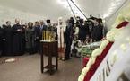 Le patriarche Cyrille célèbre un office dans le métro de Moscou à la mémoire des victimes des derniers attentats