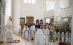 Mgr Nestor, évêque de Chersonèse, présida les vêpres et la Divine Liturgie du Samedi Saint