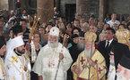 Le métropolite Hilarion a participé à une liturgie avec le patriarche de Constantinople en Cappadoce