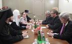 Le patriarche Cyrille a reçu le secrétaire général du Conseil oecuménique des Eglises